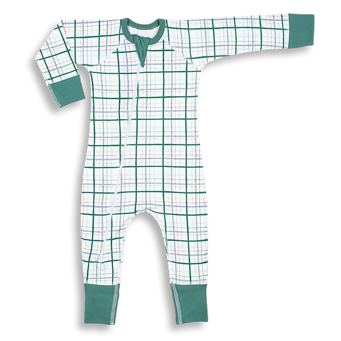 Green Plaid Onesie