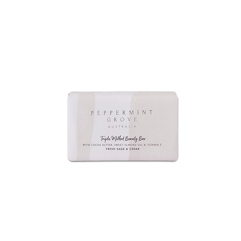 Peppermint Grove Fresh Sage & Cedar Beauty Bar 200g