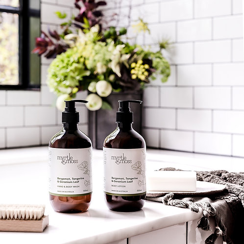 Myrtle & Moss Hand and Body Wash Bergamot