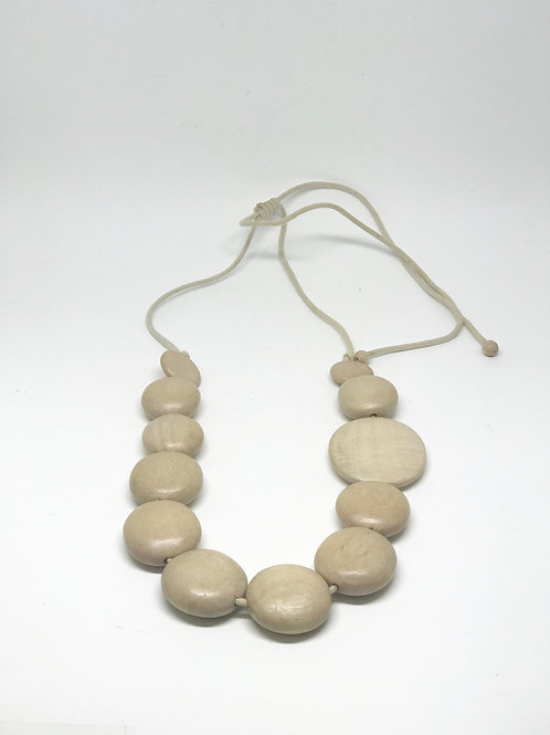 Long Multi Disc Necklace Natural