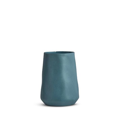 Steel Blue Tulip Vase