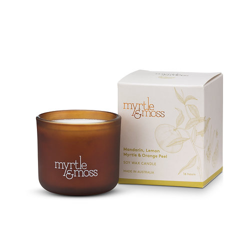 Myrtle & Moss Soy Wax Candle Citrus