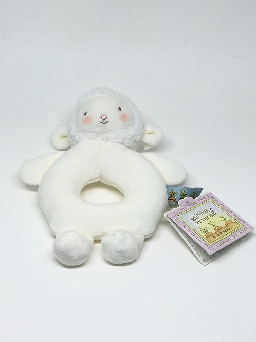 White Lamb Baby Rattle