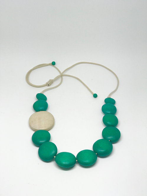 Long Multi Disc Necklace Forest