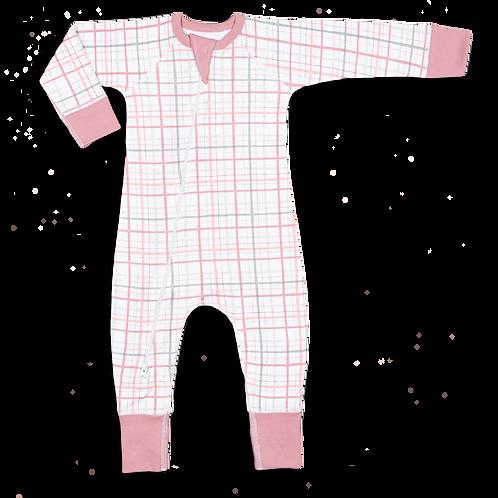 Pink Plaid Onesie