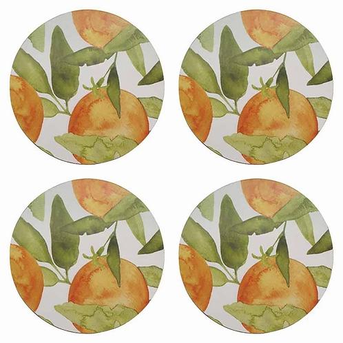 Oranges Round Coasters