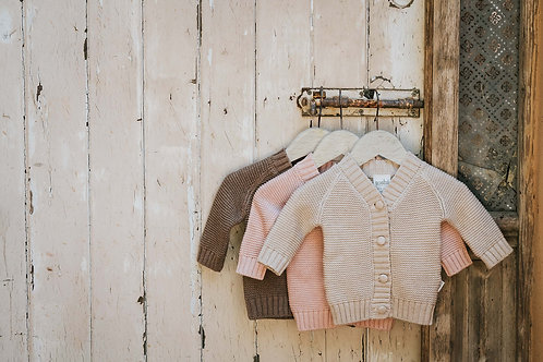 Cotton Baby Cardigan Oatmeal