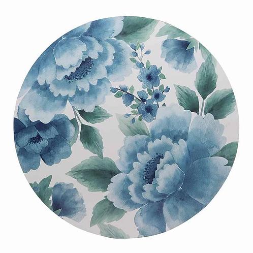 Camilla Blue Round Placemat