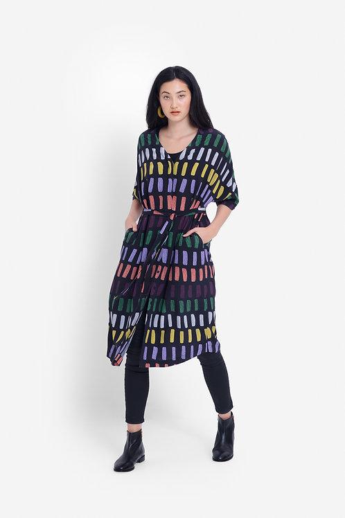 Elk Juna Dress Charcoal
