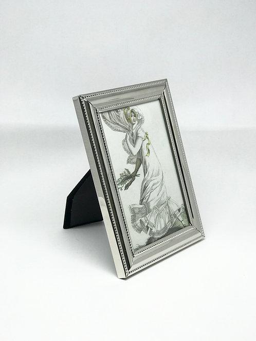 Picture Frame Medium Metal Beaded