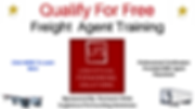 Qualify For Free Freight Agent Training.