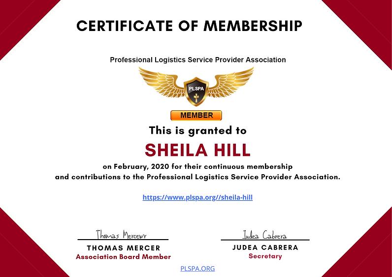_PLSPA Membership Certificate Sheila Hil