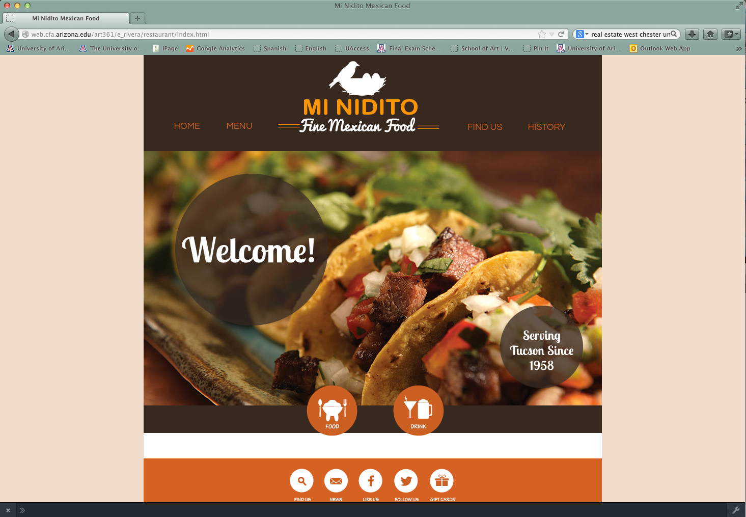 Web Design: Restaurant Site