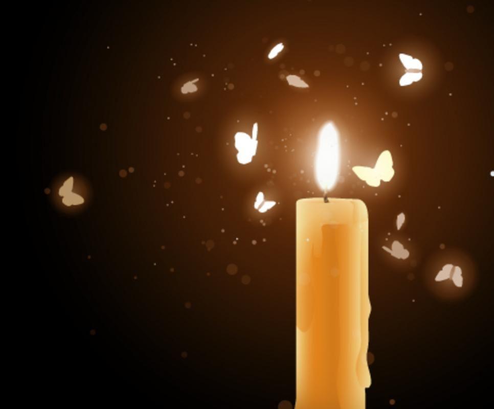 La flamme d'un bougie