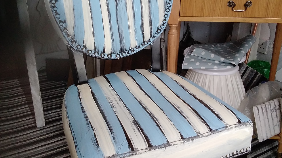 Painted stripe chair