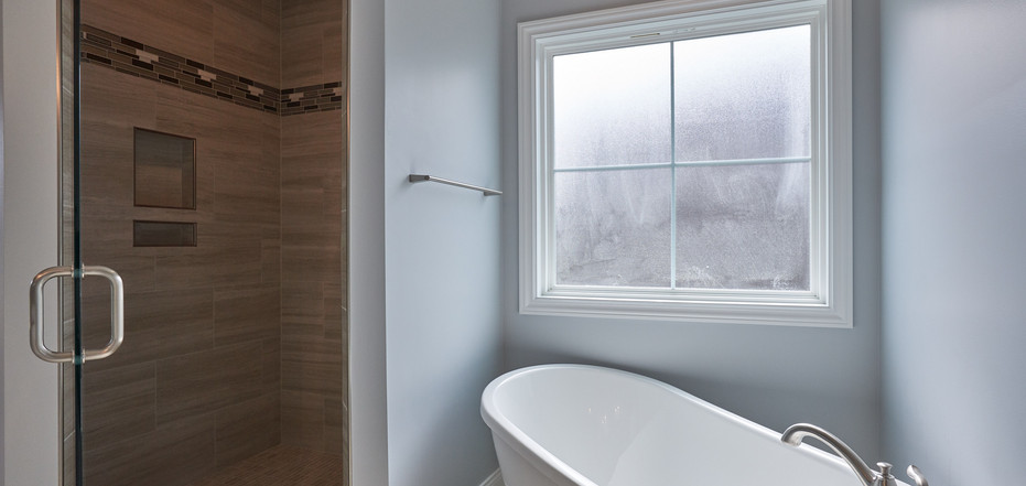 New Home-Walk-In Shower and Freestanding Bathtub