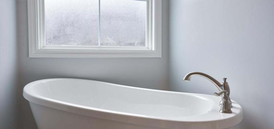 New Home-Clos Up of Freestanding Bathtub