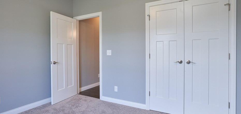 New Home-Bedroom with Double Door Closet