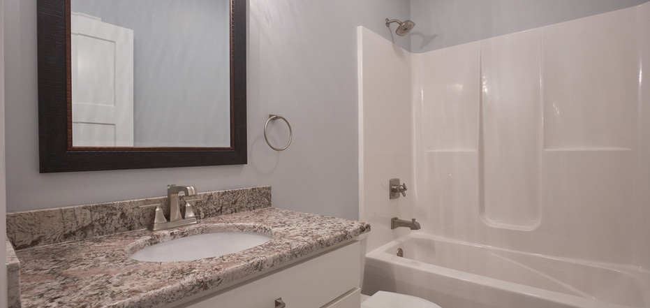 New Home-Single Vanity, Toilet, and Bathtub/Shower Combo