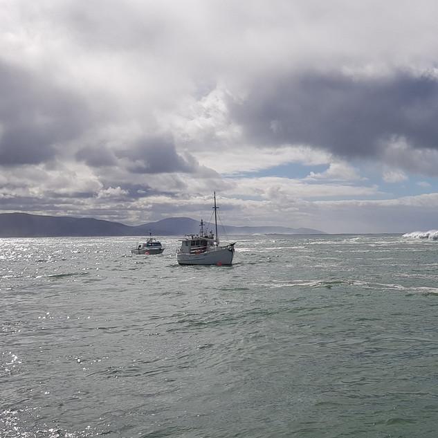 Boats in Waubs Bay, Bicheno