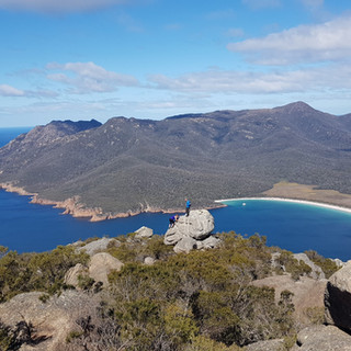 Wineglass Bay from Mt Amos