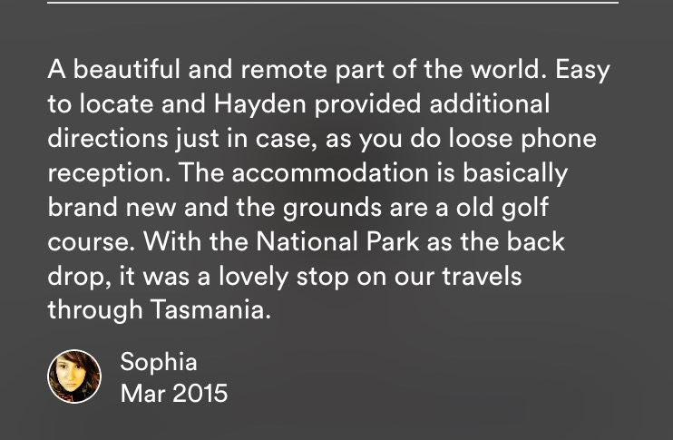 Sophia's review