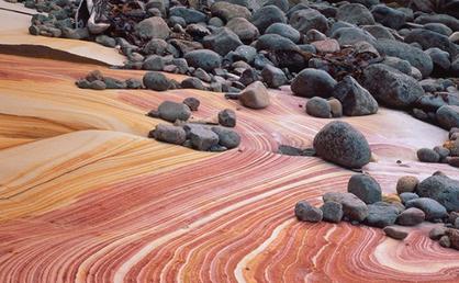 Painted Cliffs Maria Island