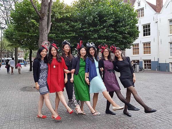 Ladies wearing EKM workshop hats