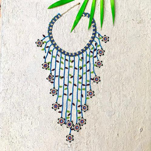Beaded Embera Flower Boho Necklace