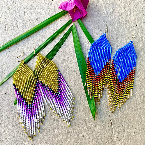 Embera Beaded Boho Festival Earrings