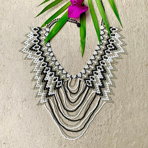 Embera Beaded Bridal Okama Boho Necklace
