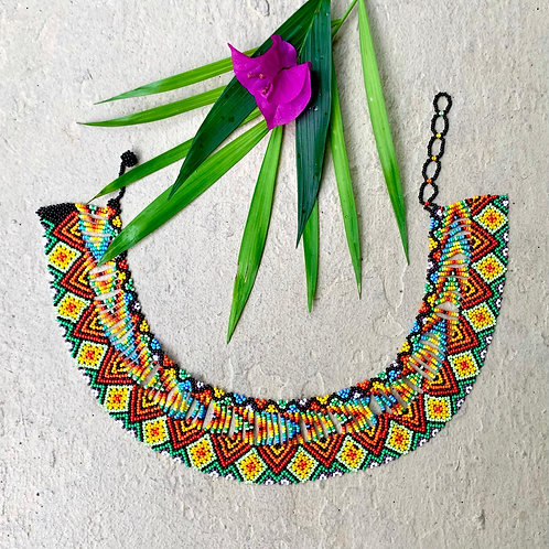 Selva Beaded Embera Okama Boho Necklace