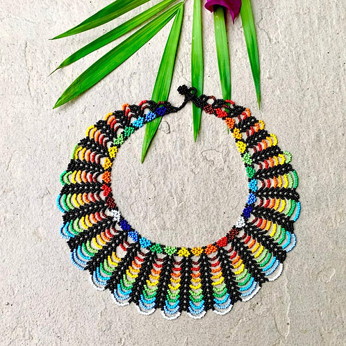 Embera Rainbow Scallop Necklace