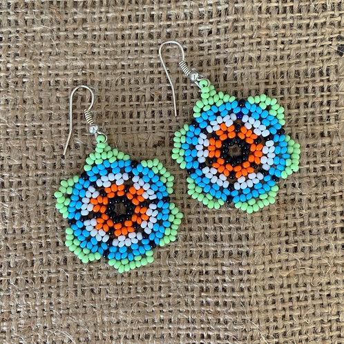 Embera Beaded Boho Flower Drop Earring