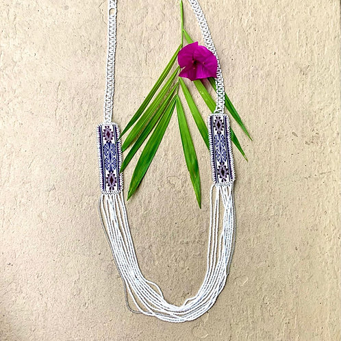 Misak Beaded Ceremonial Long Necklace