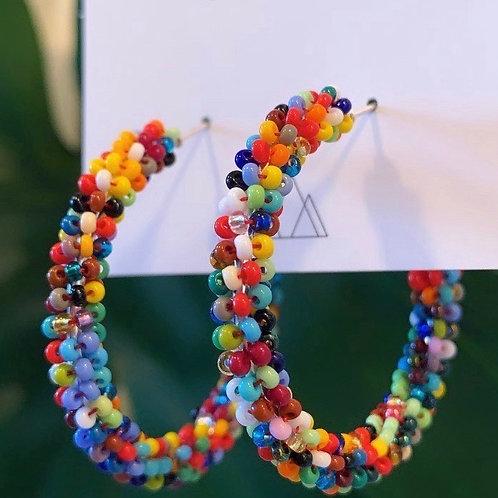 Embera Beaded Hoop Earring