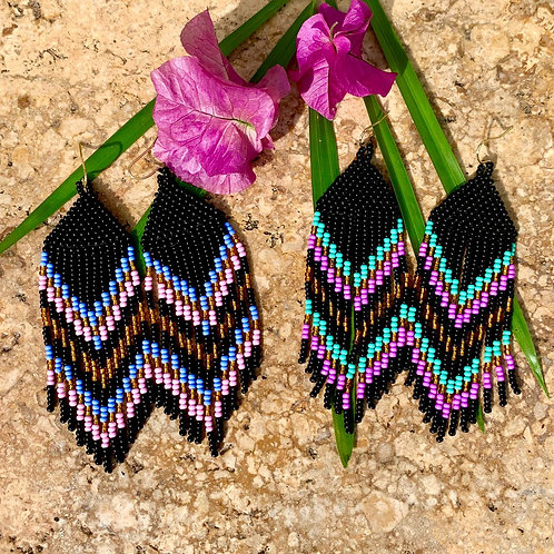 Misak Midnight Beaded Boho Earring