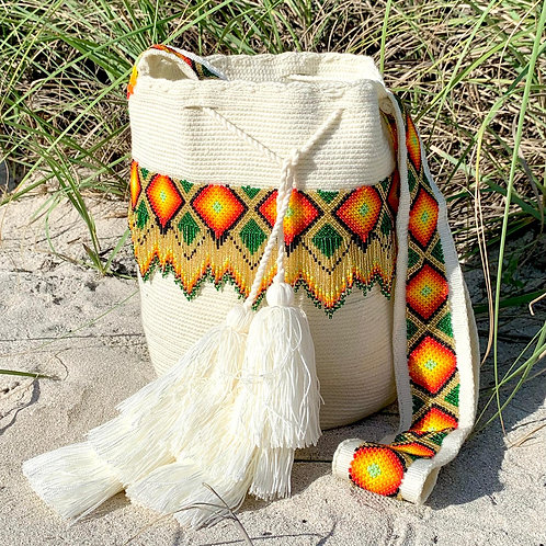 Wayuu Beaded Woven Boho Mochila Cross-Body Bag