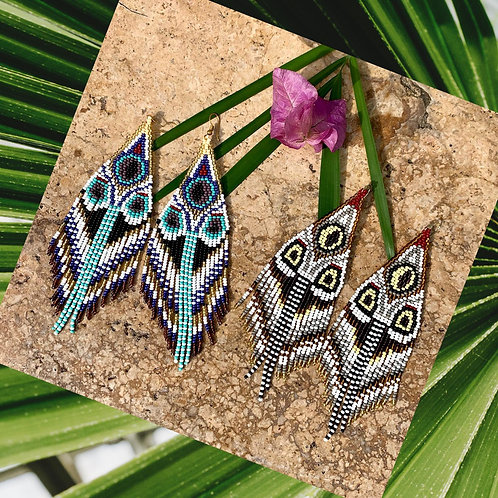 Embera Mariposa Beaded Boho Drop Earrings