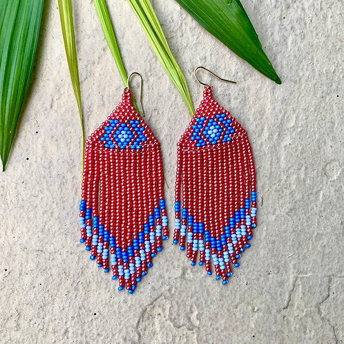 Misak Beaded Boho Drop Earrings