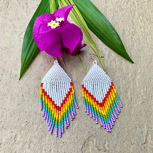 Misak Beaded Boho Rainbow Earring