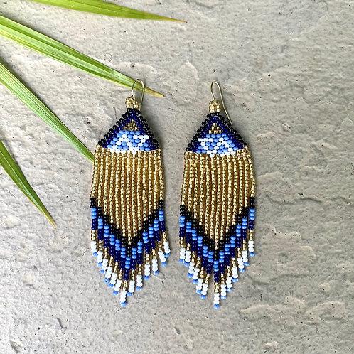Misak Beaded Cascada de Oro Earring