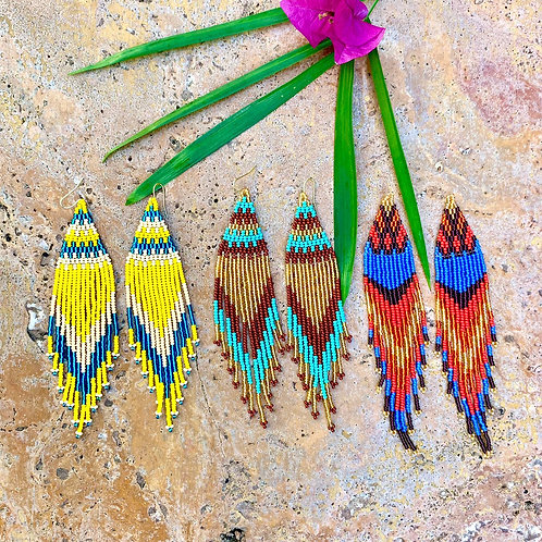 Embera Beaded Festival Drop Earrings