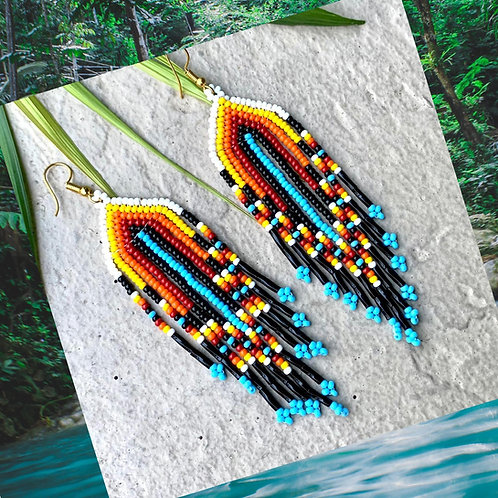 Embera Beaded Boho Tribal Earring