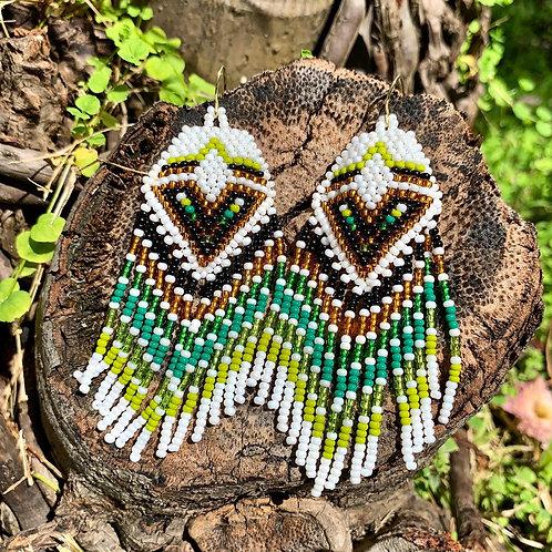 Misak Beaded Boho Forest Drop Earring