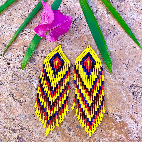 Embera Beaded Boho Colombis Drop Earring