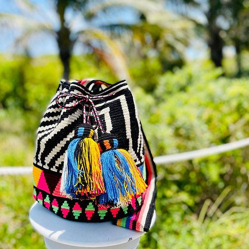 Wayuu Handwoven Bucket Cross-Body Mochila