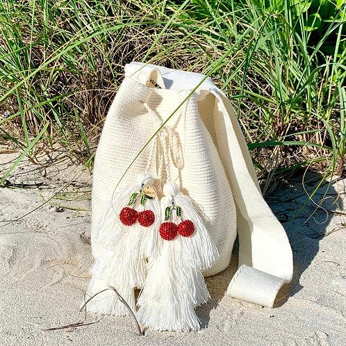 Lila Woven Wayuu Cross-Body Mochila Bag