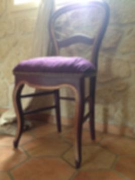 chaise restaurée complètement