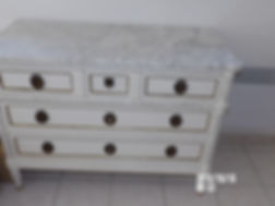 commode avec marbre